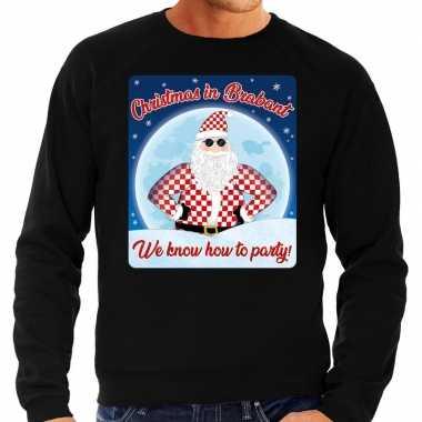 Foute foute kersttrui christmas in brabant zwart voor heren