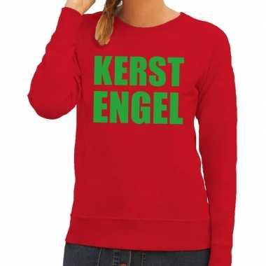 Foute foute kersttrui kerst engel rood voor dames