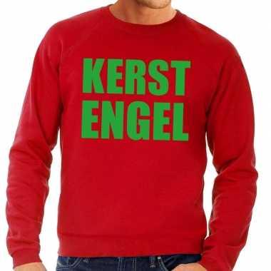 Foute foute kersttrui kerst engel rood voor heren