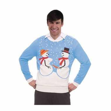 Foute foute kersttrui sneeuwmannen