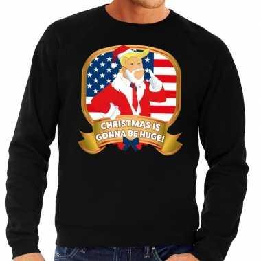 Foute foute kersttrui zwart christmas is gonne be huge voor heren