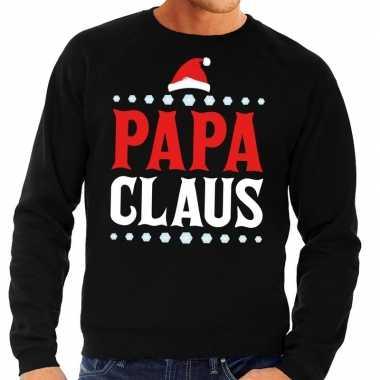 Foute foute kersttrui zwart papa claus voor heren
