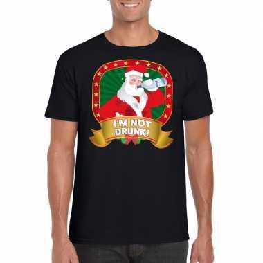 Foute kerst t shirt zwart im not drunk voor heren