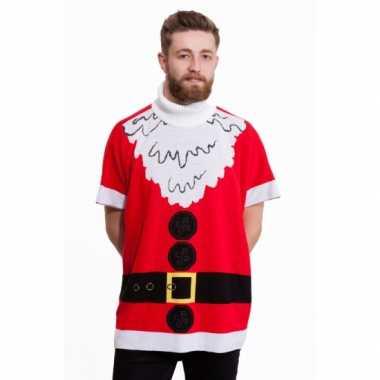 Foute kersttrui kerstman heren poncho