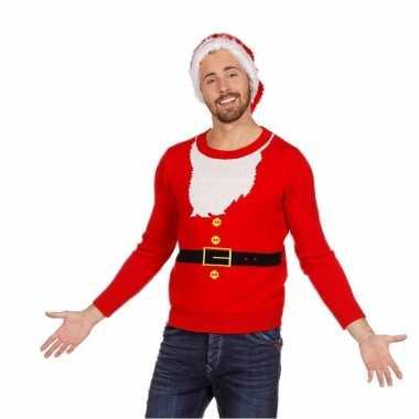 Foute kersttrui kerstman voor heren