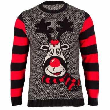 Foute kersttrui rudy reindeer voor dames