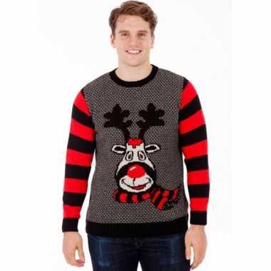 Foute kersttrui rudy reindeer voor heren