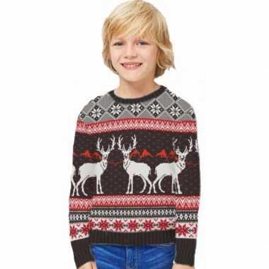 Kersttrui Maat 116.Kinder Foute Kersttrui Happy Reindeers Fout Eu