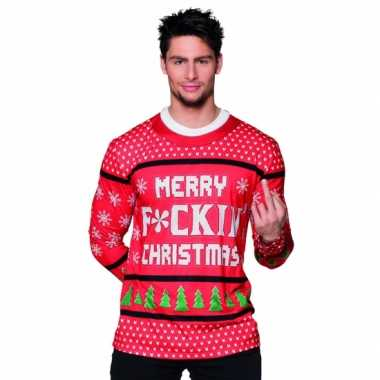 Shirt kerst merry f ing christmasfoute