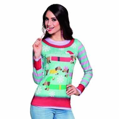 Shirt kerst opdruk damesfoute