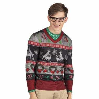 Shirt kerst opdruk herenfoute