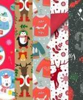 15x rollen kerst inpakpapier cadeaupapier diverse prints 2 5 x 0 7 meter voor kinderenfoute