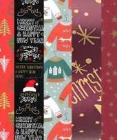 15x rollen kerst inpakpapier cadeaupapier diverse prints 2 5 x 0 7 meter voor volwassenenfoute