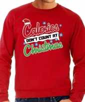 Foute foute kersttrui calories dont count christmas rood voor heren
