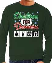 Foute foute kersttrui christmas for dummies groen voor heren