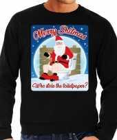 Foute foute kersttrui merry shitmas zwart voor heren 10172402