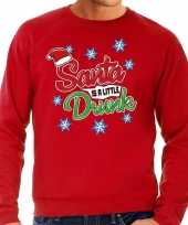 Foute foute kersttrui santa is a little drunk rood voor heren