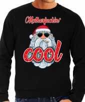 Foute foute kersttrui stoere kerstman motherfucking cool zwart heren