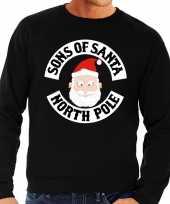 Foute foute kersttrui zwart sons of santa voor heren