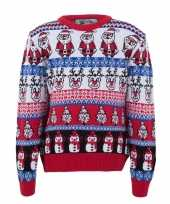 Foute kersttrui voor volwassenen met foute nordic print