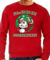 Grote maten foute kersttrui niks ho ho ho doordrinken bier rood heren