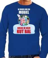 Kut kerstbal foute kersttrui kerst outfit ik vroeg om een mobiel krijg ik deze kut bal blauw voor heren