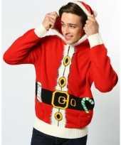 Rode hooded foute kersttrui